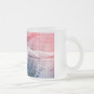 Advanced Technology and Science Abstract Frosted Glass Coffee Mug