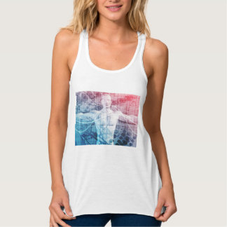 Advanced Technology and Science Abstract Tank Top