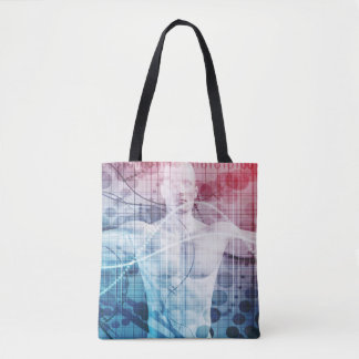 Advanced Technology and Science Abstract Tote Bag
