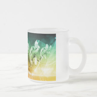 Advanced Technology as a IT Concept Background Frosted Glass Coffee Mug