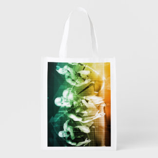 Advanced Technology as a IT Concept Background Grocery Bag
