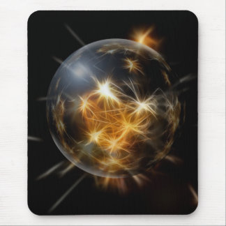 Advent Ball Gold Lights Christmas Tree Decoration Mouse Pad