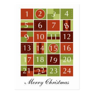 Advent Calendar Postcard