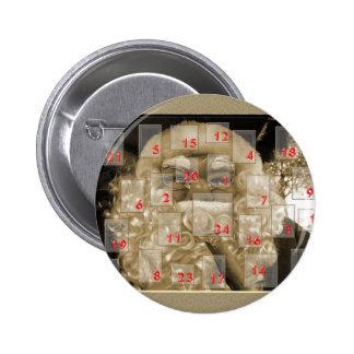Advent calendar with nikolaus pins