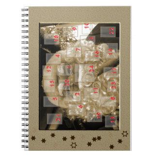 Advent calendar with nikolaus spiral notebook