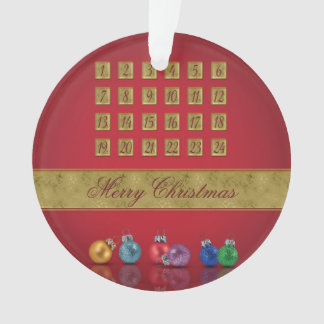 Advent Calendar with Ornaments - Ornament
