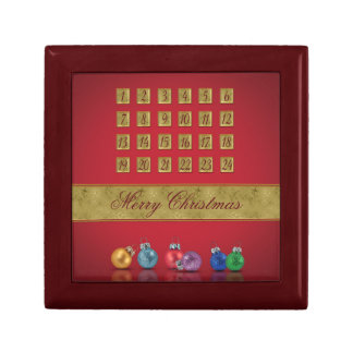 Advent Calendar with Ornaments - Tile Gift Box