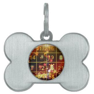 Advent Calender Door Golden Christmas Pet ID Tag