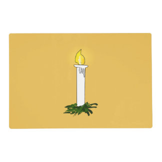 Advent Candle Dark Yellow Laminated Placemat