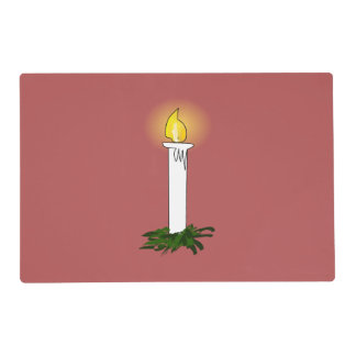 Advent Candle Red Laminated Placemat