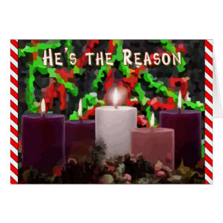 Advent Candles Card