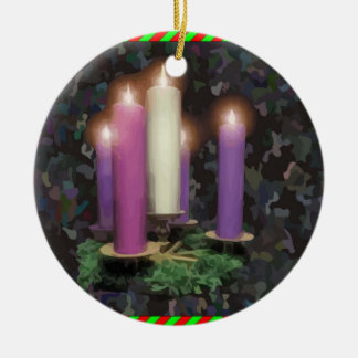 Advent Candles Christmas Ornament