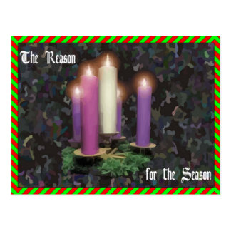 Advent Candles Postcard