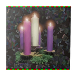 Advent Candles Small Square Tile
