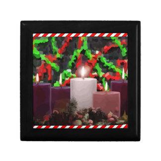 Advent Candles Trinket Box