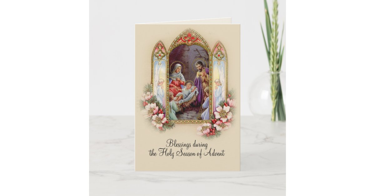 Advent Christmas Catholic Novena St. Andrew Card | Zazzle.com