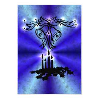 Advent, Christmas kind Deco on blue green Rainbow Card