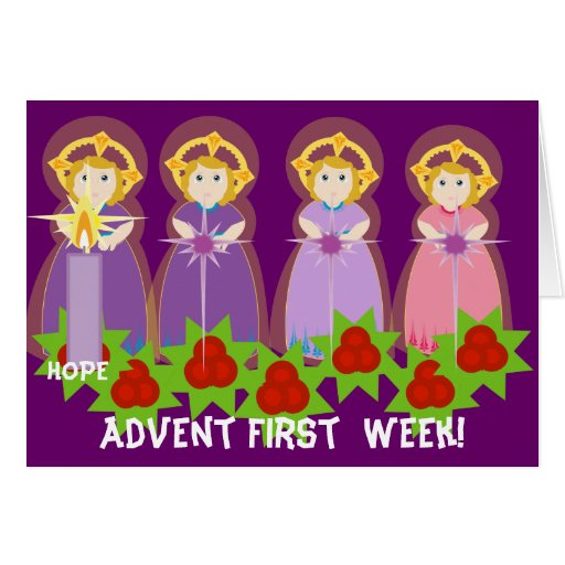 ADVENT First Week- Hope-Customize Greeting Card
