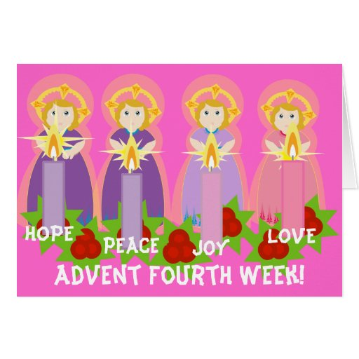 ADVENT Fourth Week- Love-Customize Greeting Cards