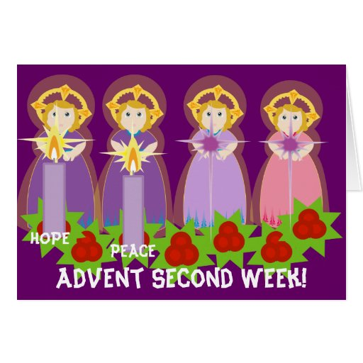 ADVENT Second Week Peace-Customize Greeting Cards