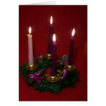Advent wreath greeting cards