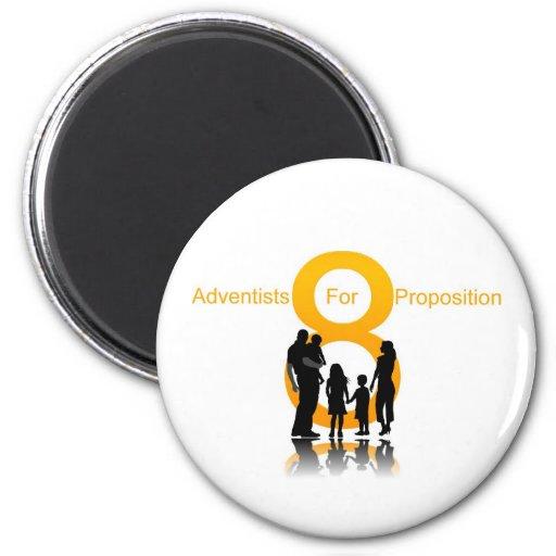 Adventists para el apoyo 8 iman de frigorífico