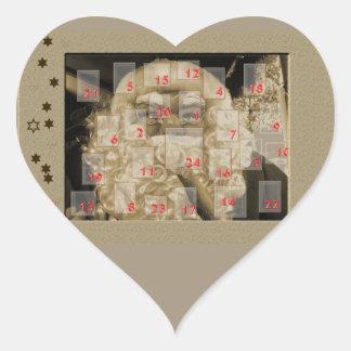 adventskalender con nikolaus pegatinas de corazon personalizadas