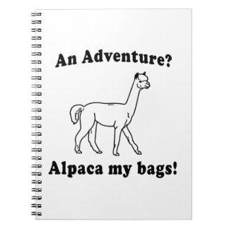 Adventure Alpaca Spiral Note Book