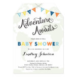 Adventure Awaits: Baby Boy Shower Map Invitation