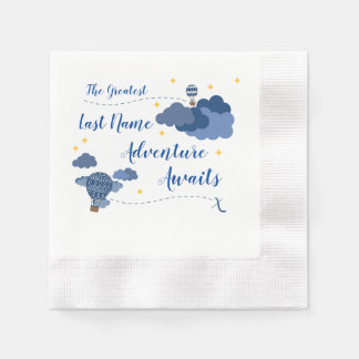 Adventure Awaits Baby Shower Design Paper Napkin