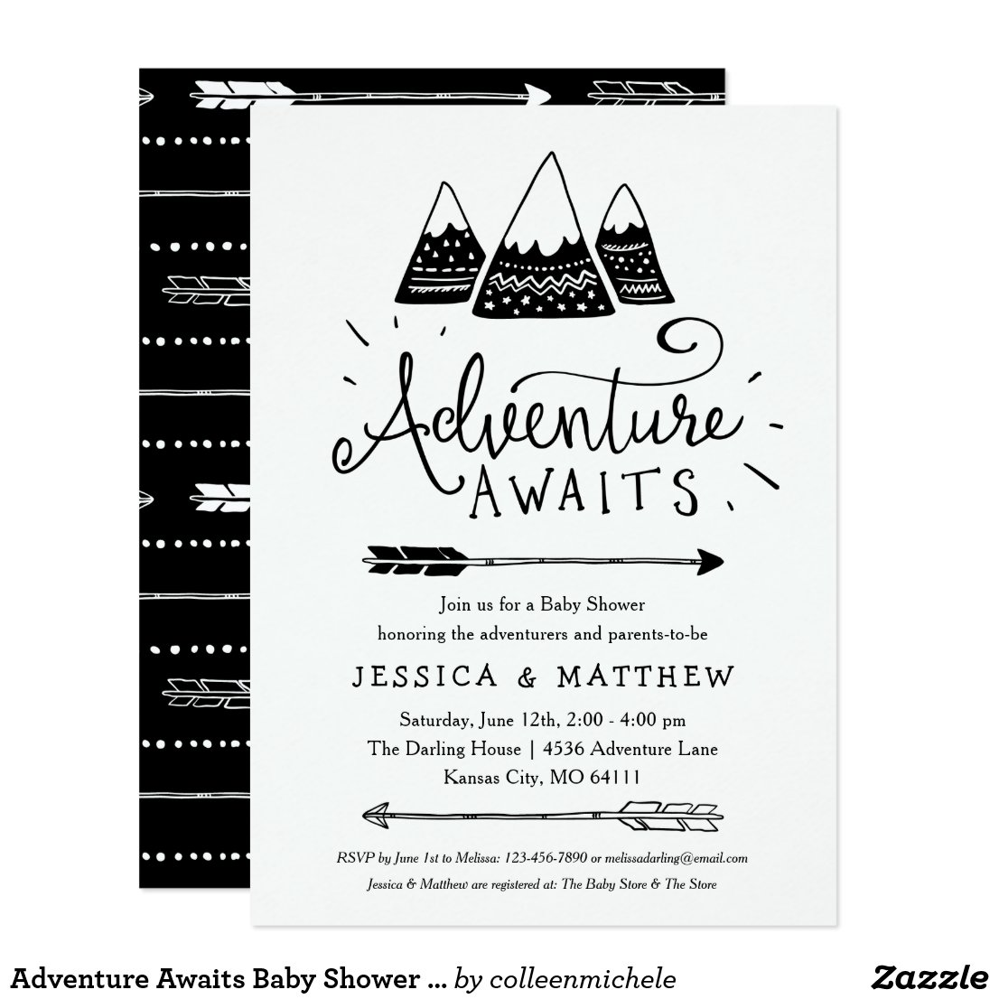 Adventure Awaits Baby Shower Invitations