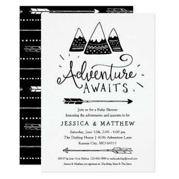 Toddler & Baby themed Adventure Awaits Baby Shower Invitations