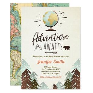 Vintage baby shower invitations zazzle adventure awaits baby shower invite vintage rustic filmwisefo