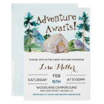 Adventure Awaits Camping Baby Shower Invitation