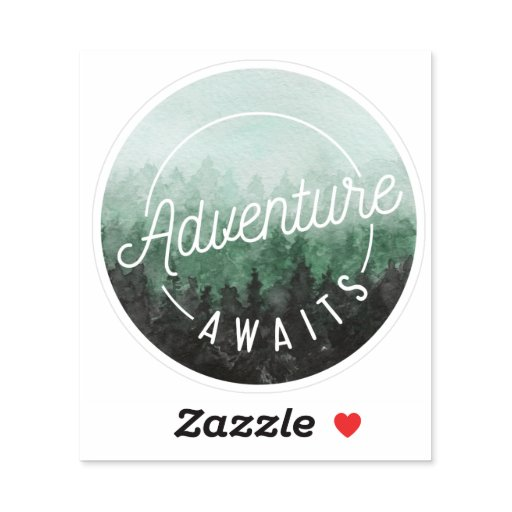 Adventure Awaits | Cool Outdoorsy Quote Sticker