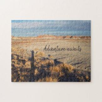 Adventure Awaits Desert Landscape Photo Jigsaw Puzzle