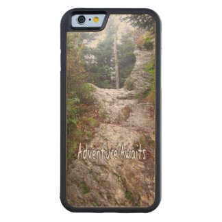 Adventure Awaits just over the Trail Carved Maple iPhone 6 Bumper Case