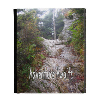 Adventure Awaits just over the Trail iPad Folio Case