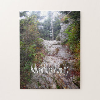Adventure Awaits just over the Trail Jigsaw Puzzle