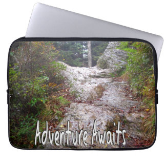 Adventure Awaits just over the Trail Laptop Sleeve