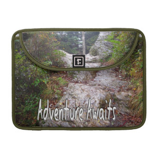 Adventure Awaits just over the Trail MacBook Pro Sleeve