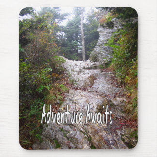 Adventure Awaits just over the Trail Mouse Pad