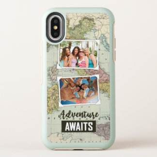 Adventure Awaits Map | Upload Your Own Photos OtterBox Symmetry iPhone X Case