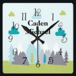 "Adventure Awaits Mountains Wall Clock<br><div class=""desc"">Adventure Awaits Mountains Wall Clock</div>"