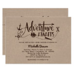 """Adventure Awaits"" Nautical Baby Shower Invitation"