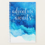 "Adventure Awaits Planner<br><div class=""desc"">Adventure Awaits Planner with watercolor background</div>"