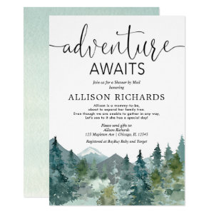 Our greatest adventure awaits baby shower Invitations