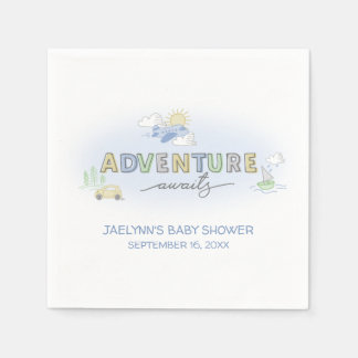 Adventure Awaits Travel - Personalized Napkin