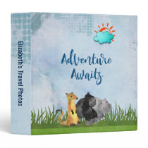 Adventure Awaits - Travel Photo Album 3 Ring Binder