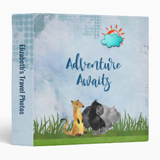 Adventure Awaits - Travel Photo Album 3 Ring Binder